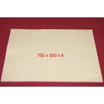 Feuille de Feutre Blanc en 6 mm (700x500)