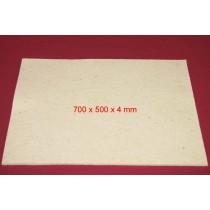 Feuille de Feutre Blanc en 4 mm (700x500)